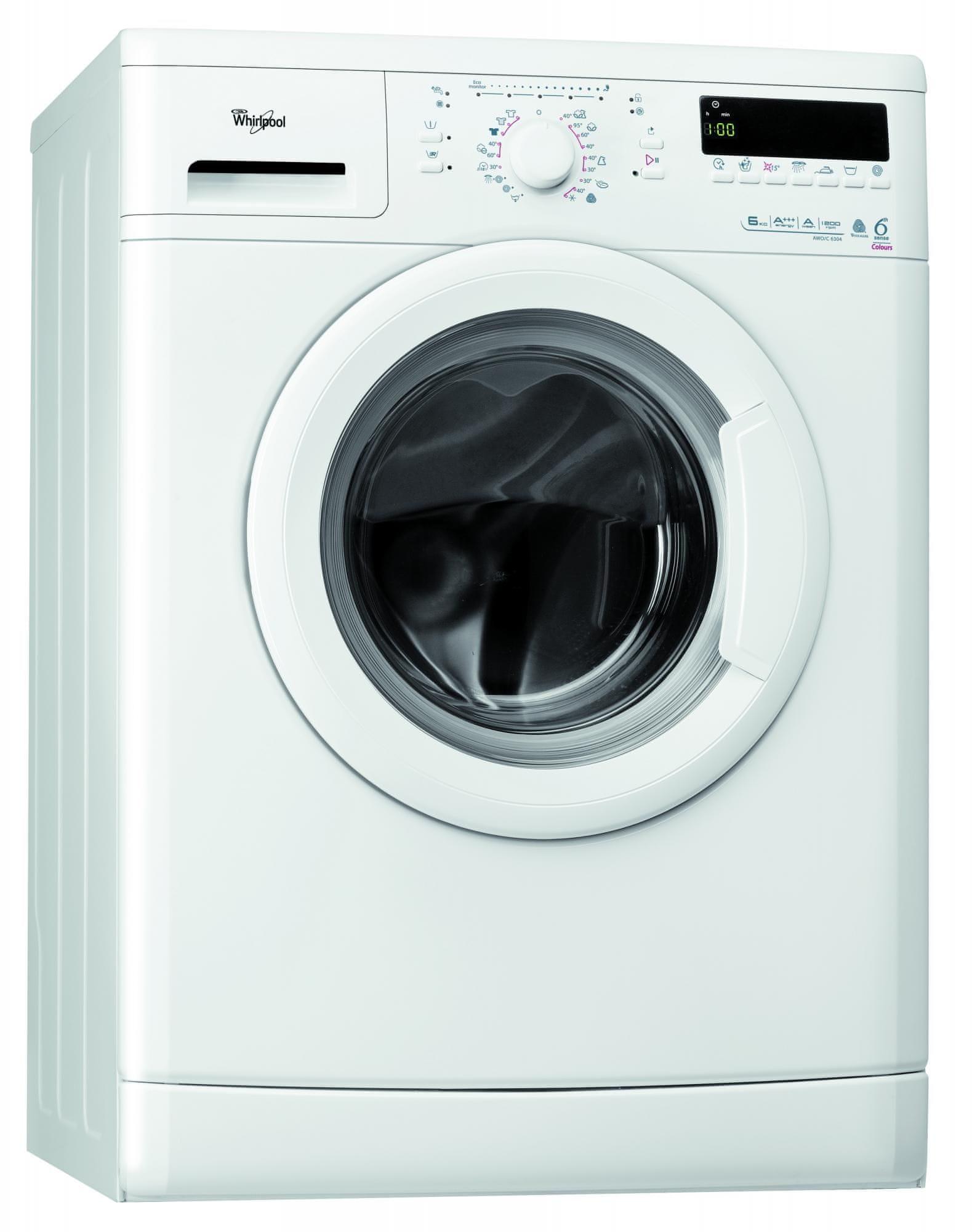 Whirlpool AWO/C 6304 Elöltöltős mosógép, 6 kg, A+++ Ajándék 56 db-os Ariel Color 3in1 mosókapszulával