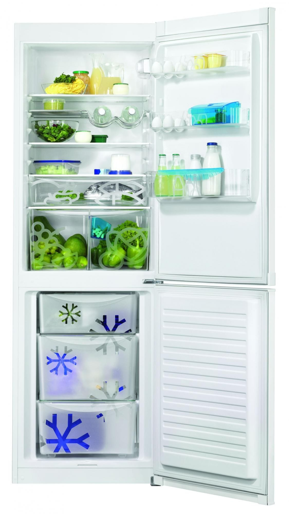 Zanussi ZRB36104WA Kombinált hűtőszekrény, 337 L, A++