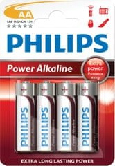 PHILIPS Power AA ceruzaelem, 4 db (LR6P4B/10)