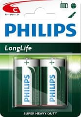 PHILIPS Long Life C elem, 2 db (R14L2B/10)