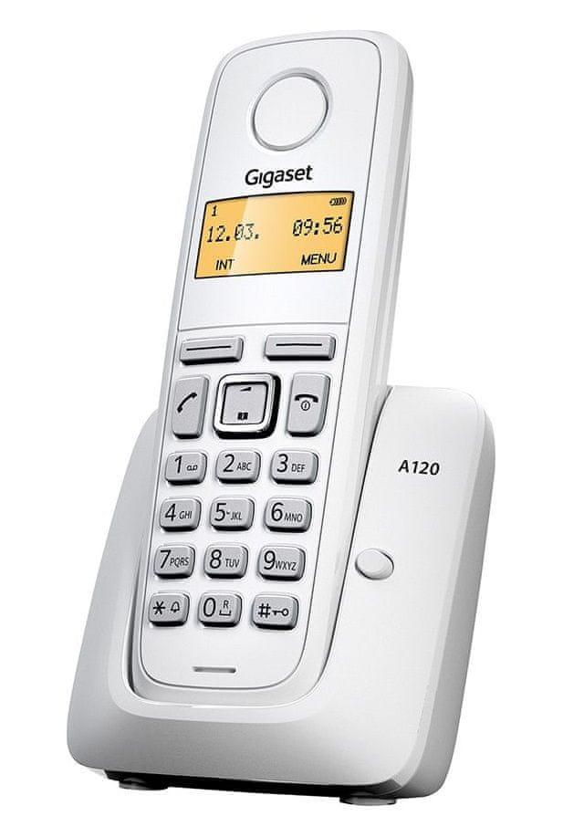 Gigaset A120 Vezeték nélküli Telefon, Fehér