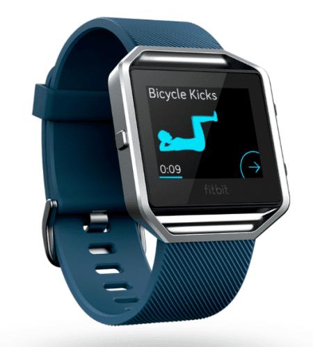 Fitbit Blaze Fitneszóra, L, Kék