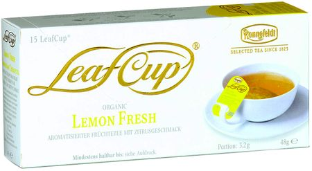 Ronnefeldt LeafCup Lemon Fresh BIO Tea, 15 filter