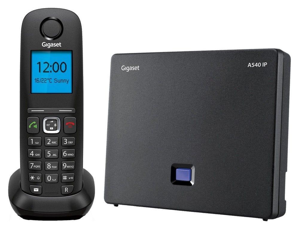 Gigaset A540 IP Vezeték nélküli telefon, Szürke