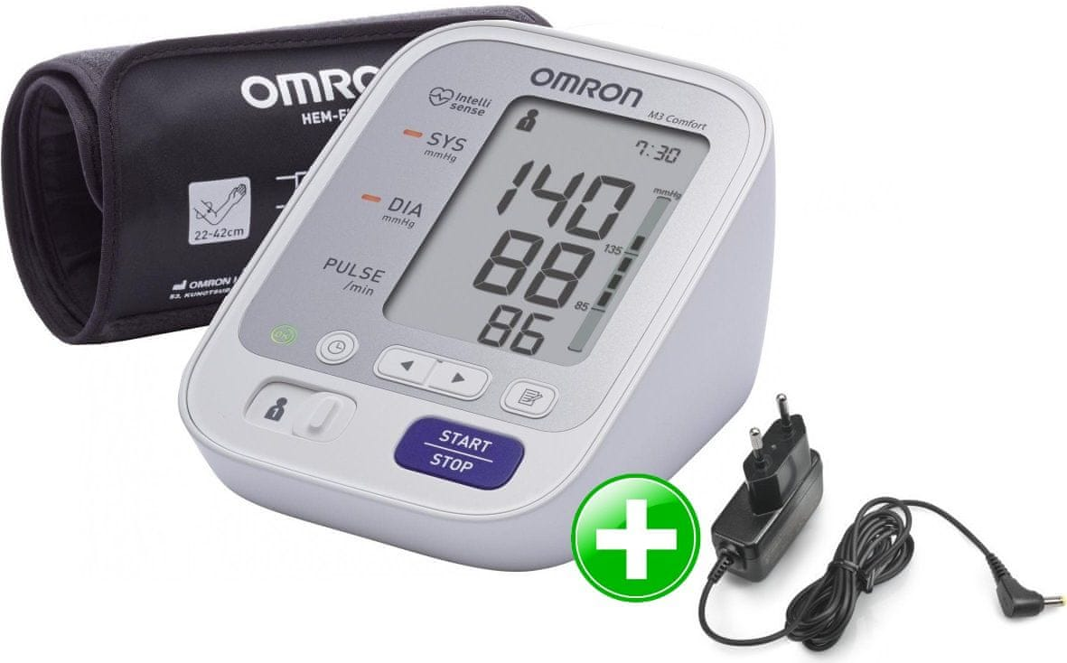 Omron M3 Comfort vérnyomásmérő + adapter
