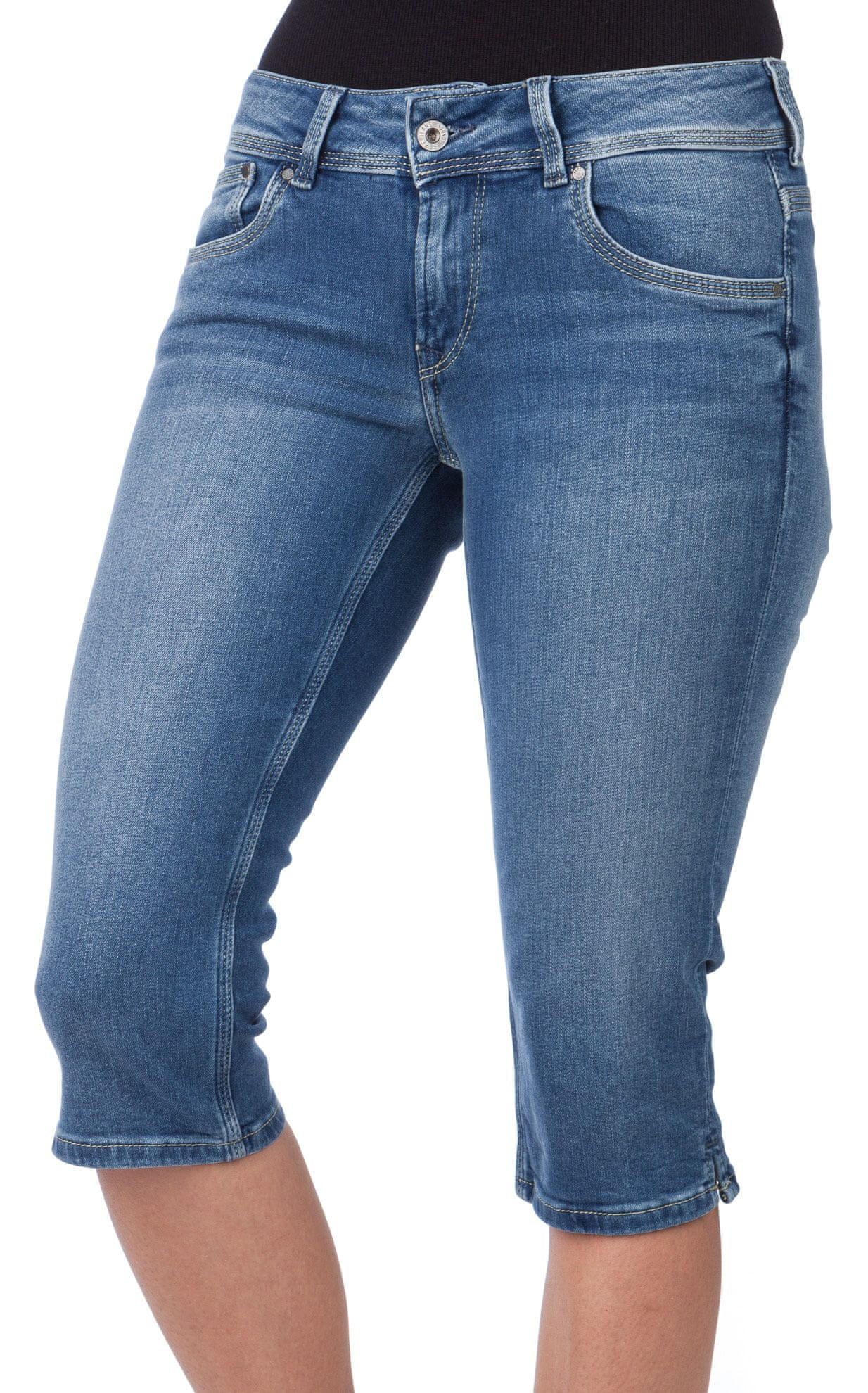 Pepe Jeans női sort Saturn Crop 28 kék