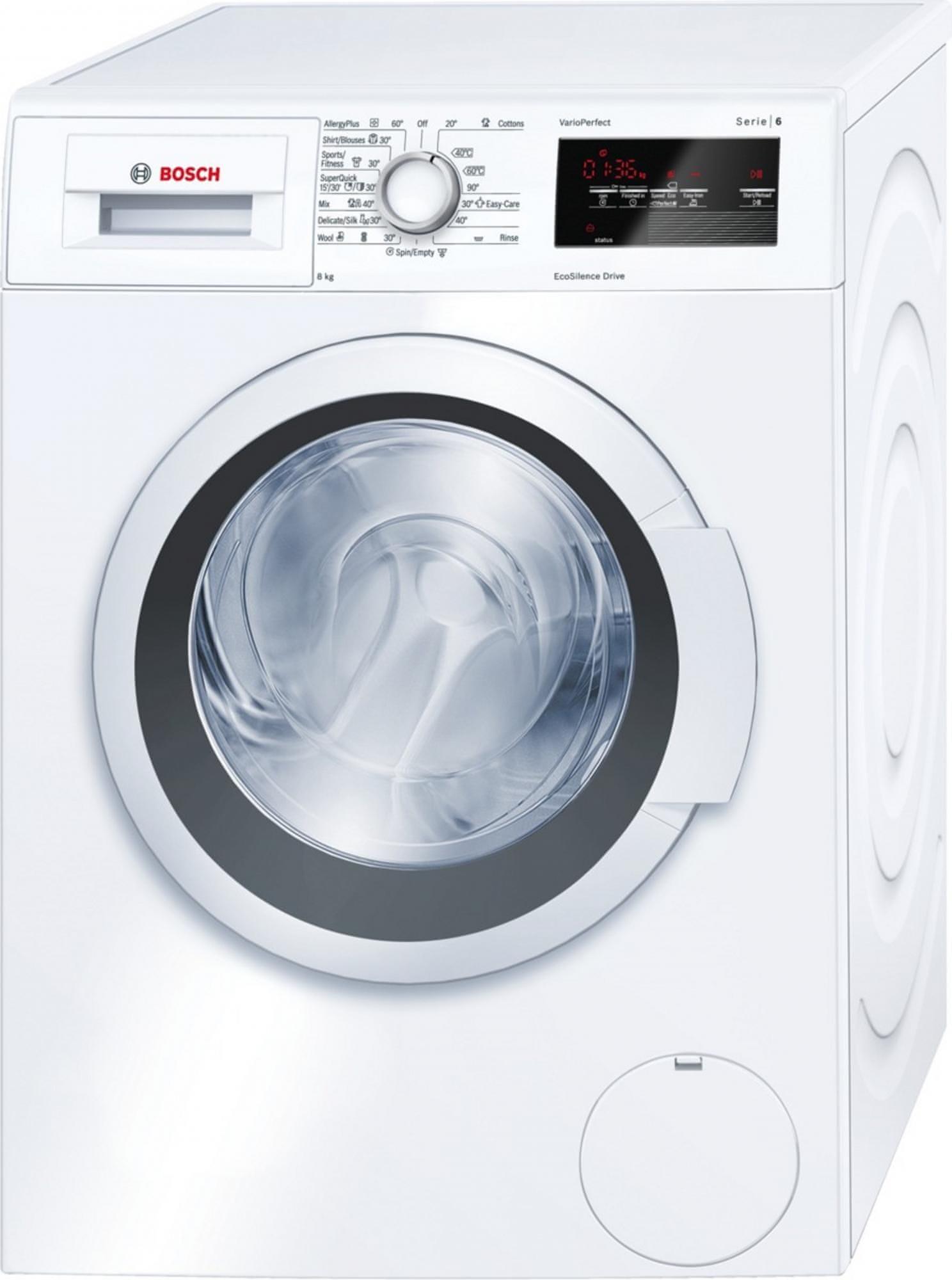 BOSCH WAT24360BY Elöltöltős mosógép, 8 kg, A+++