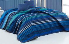 BedTex Ágytakaró Marley Kék 220x240 + 2x40x40 cm 32ff6584ac